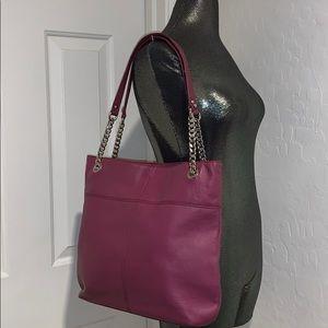 TIGNANELLO Purple-ish leather tote bag handbag
